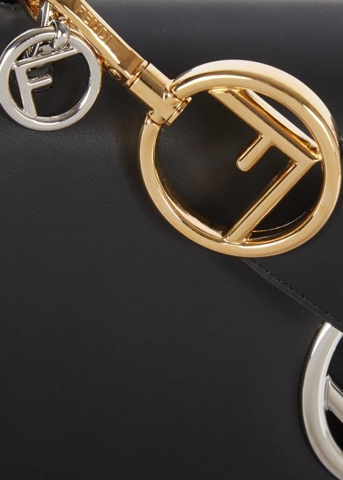5d27bc430d3b Fendi Kan I F black leather shoulder bag - Harvey Nichols