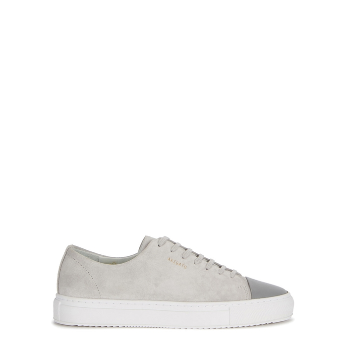 Axel Arigato LIGHT GREY SUEDE TRAINERS