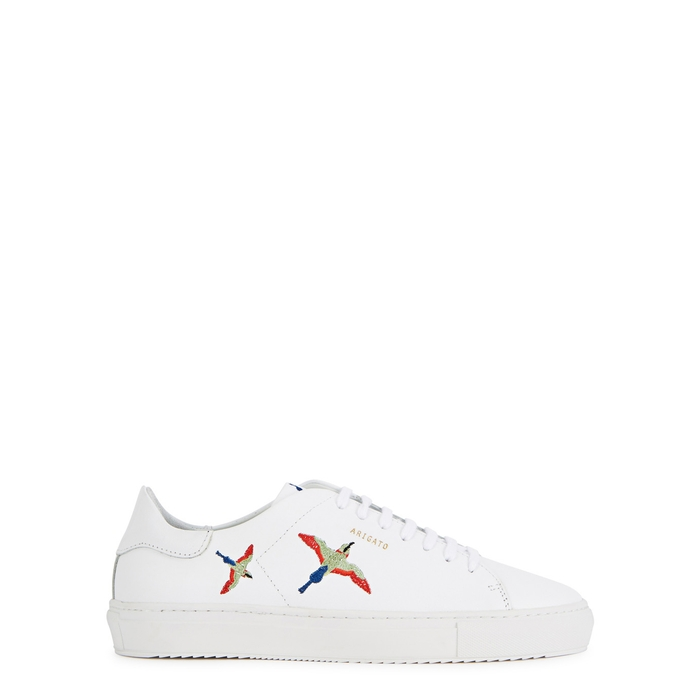 Axel Arigato CLEAN 90 EMBROIDERED LEATHER TRAINERS