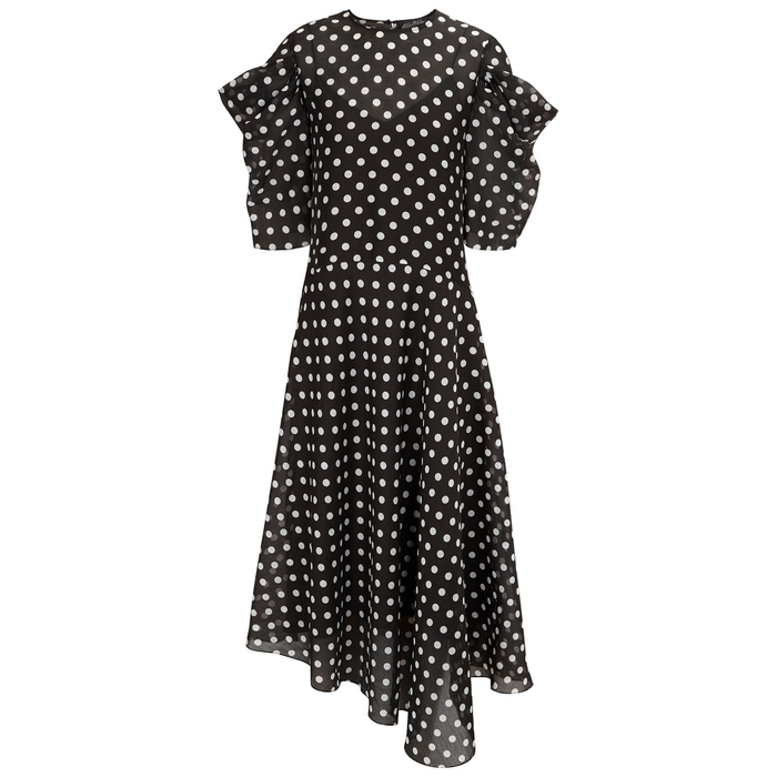 Anna October POLKA-DOT CHIFFON DRESS