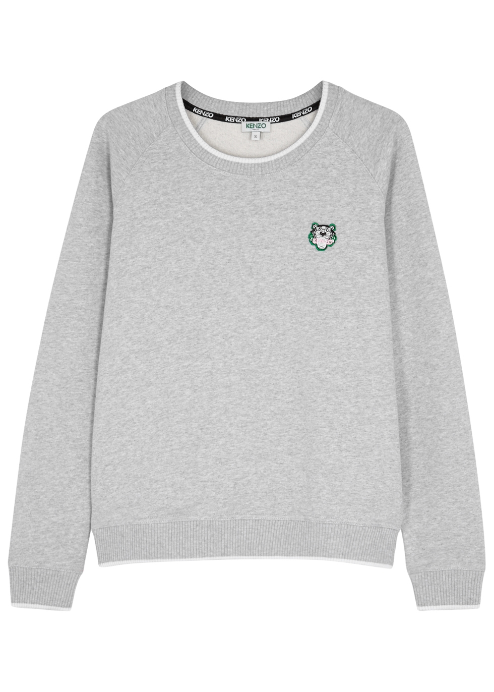 GREY MÉLANGE COTTON SWEATSHIRT
