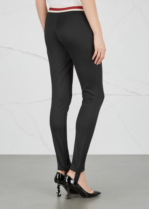 dd01316cf26 Gucci Black stirrup jersey leggings - Harvey Nichols