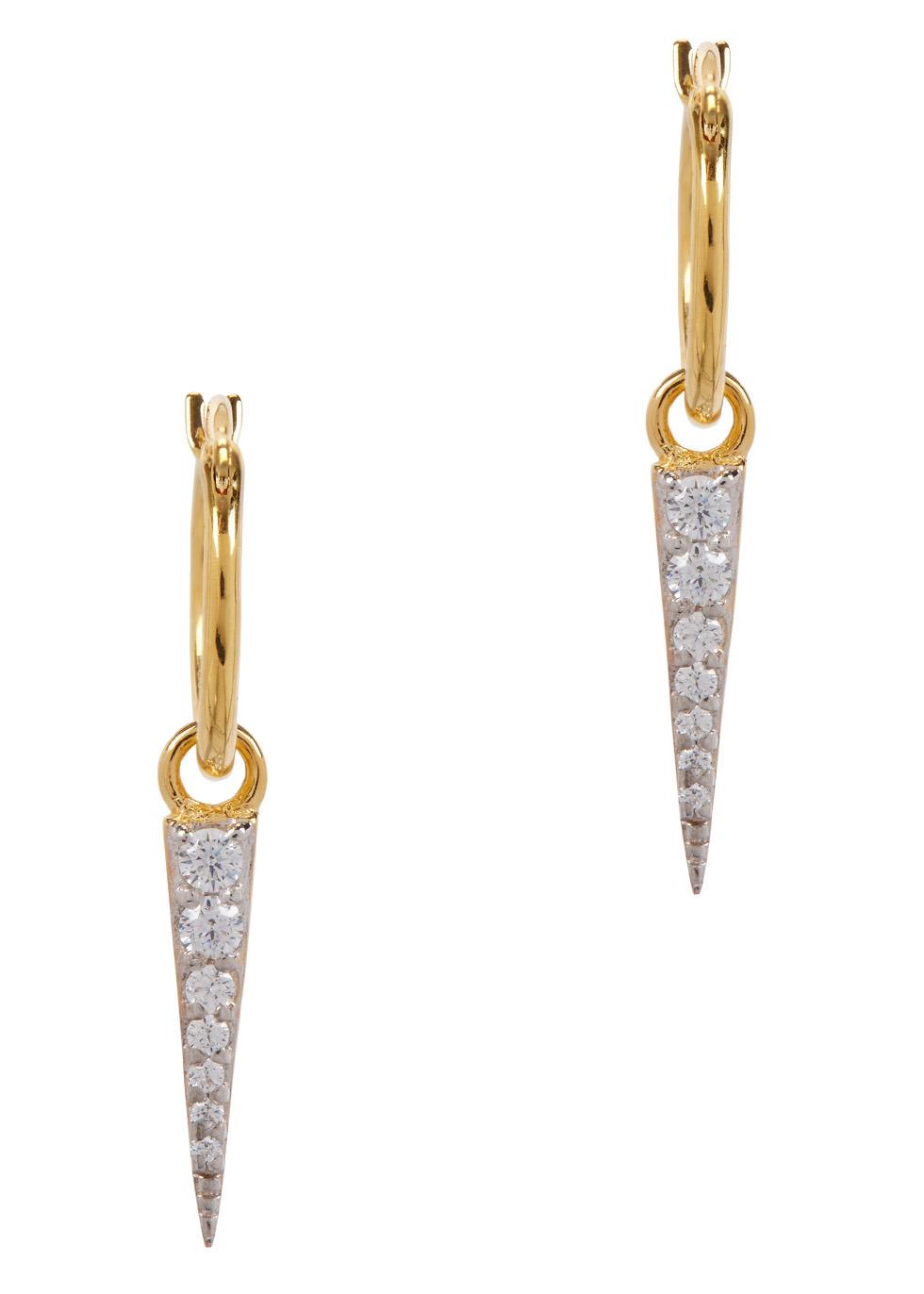 Mini Dagger 18ct gold-plated earrings