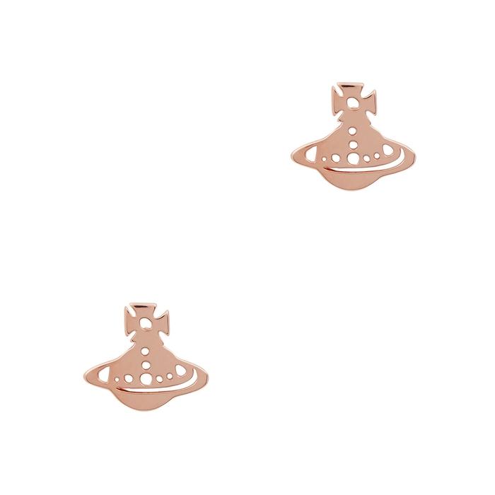 effd88c8b VIVIENNE WESTWOOD Yeni Rose Gold Tone Stud Earrings | ModeSens