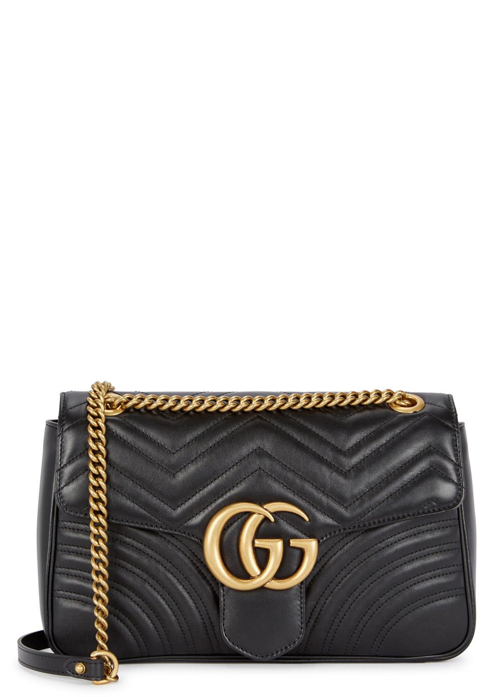 GG Marmont medium leather shoulder bag ...