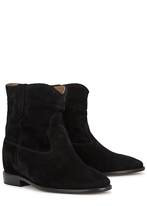2b83f91f80f Isabel Marant Crisi 75 black suede ankle boots - Harvey Nichols