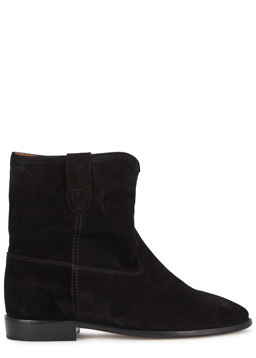 Woman Crisi Suede Ankle Boots Black