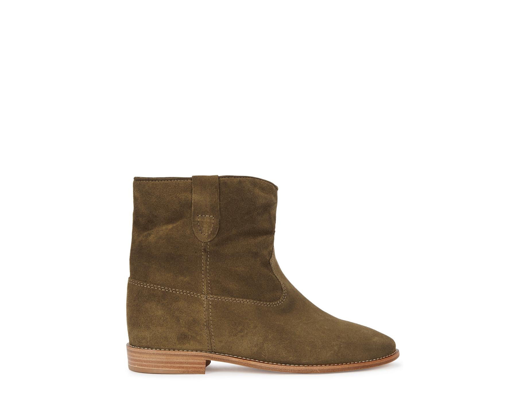 a53c1e446d4 Isabel Marant Crisi 75 brown suede ankle boots - Harvey Nichols
