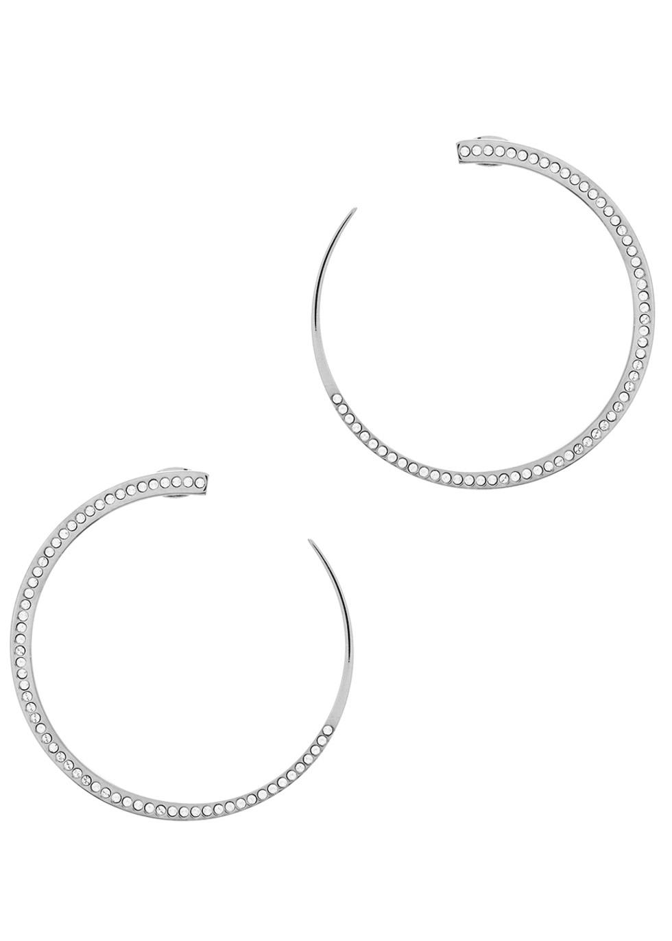 VITA FEDE MOON CRYSTAL SILVER-PLATED EARRINGS