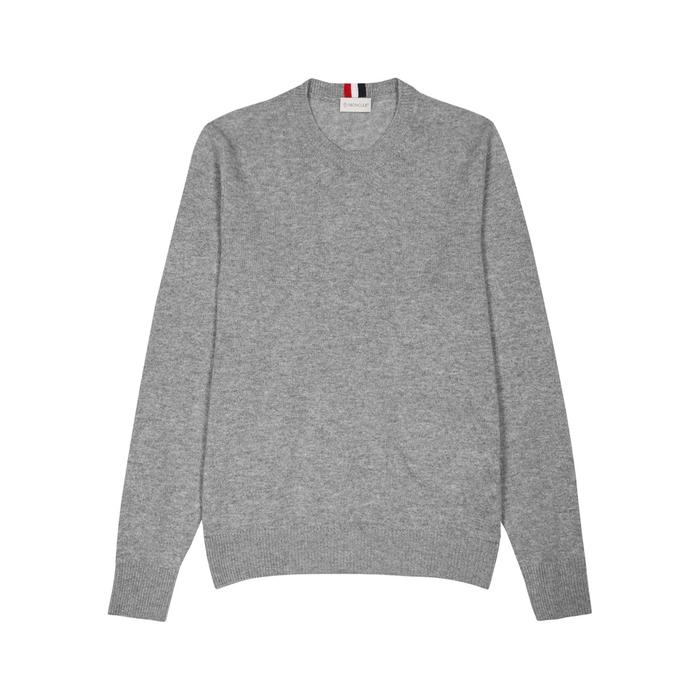 Moncler Grey Mélange Cashmere Jumper