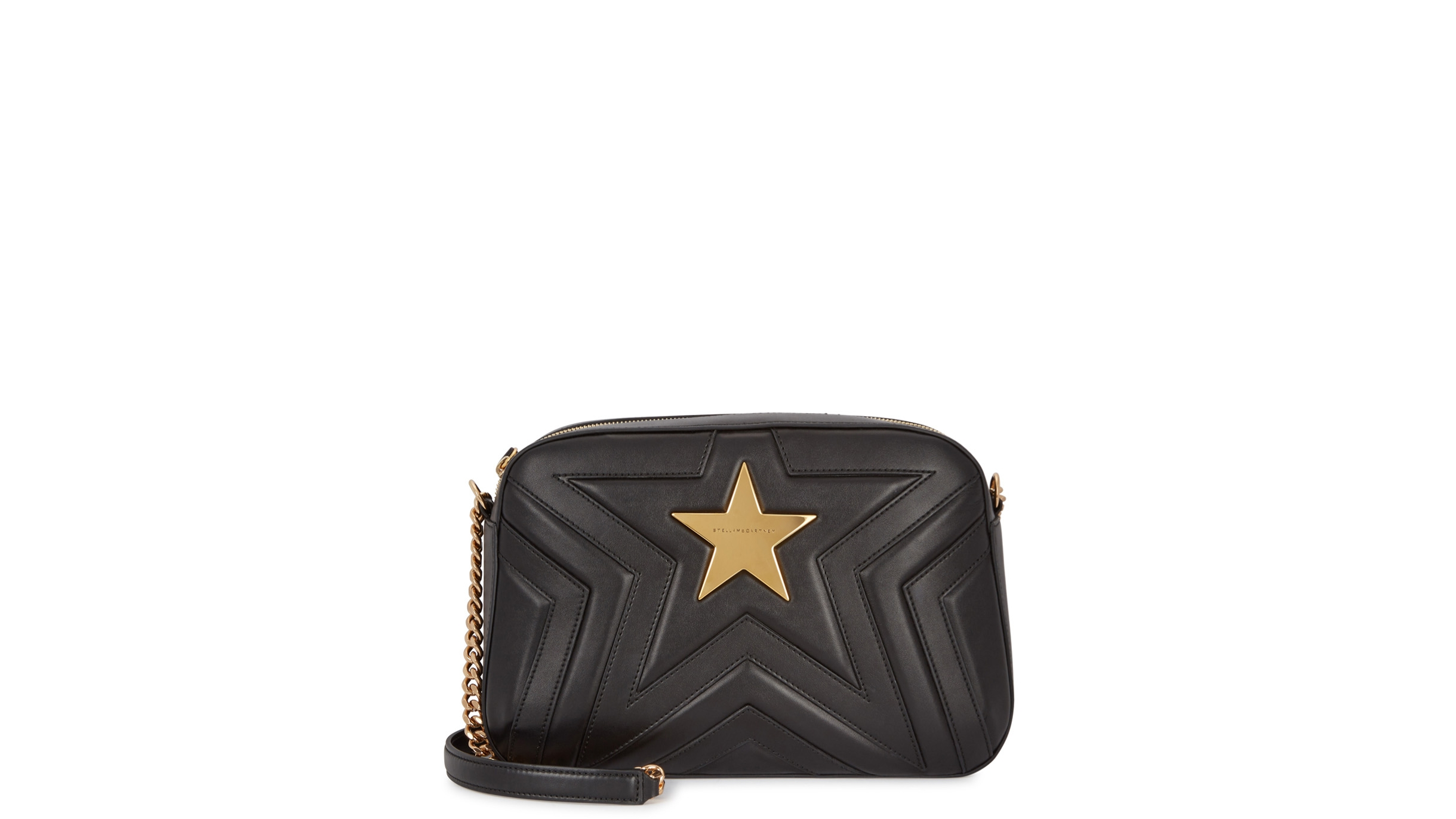 Stella McCartney Black star shoulder bag - Harvey Nichols 57ee5a45b1ab2