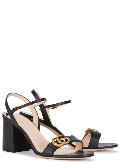 8ec06e86a044 Gucci GG Marmont 75 black leather sandals - Harvey Nichols