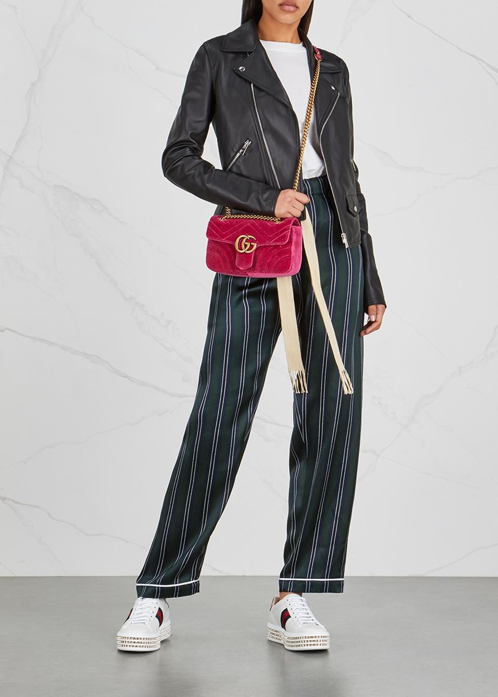 Gucci Ace crystal-embellished flatform