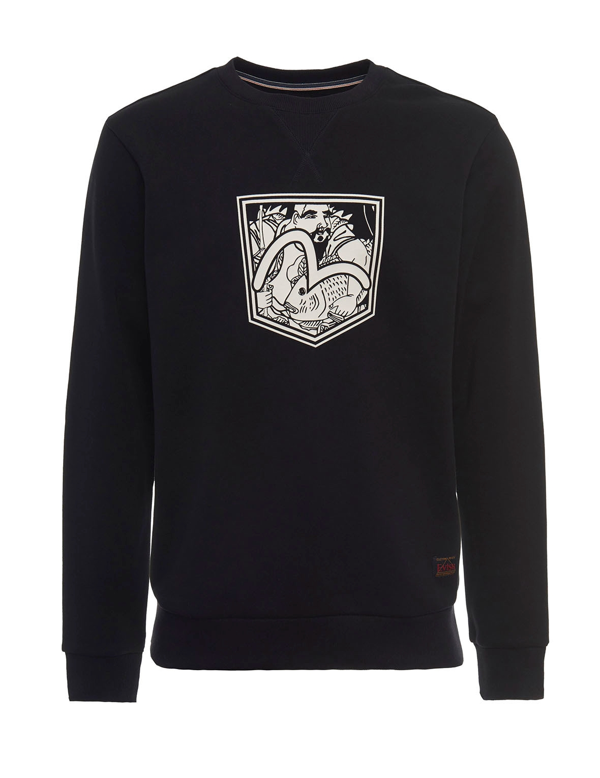 EVISU FISHERMAN SEAGULL POCKET PRINT SWEATSHIRT