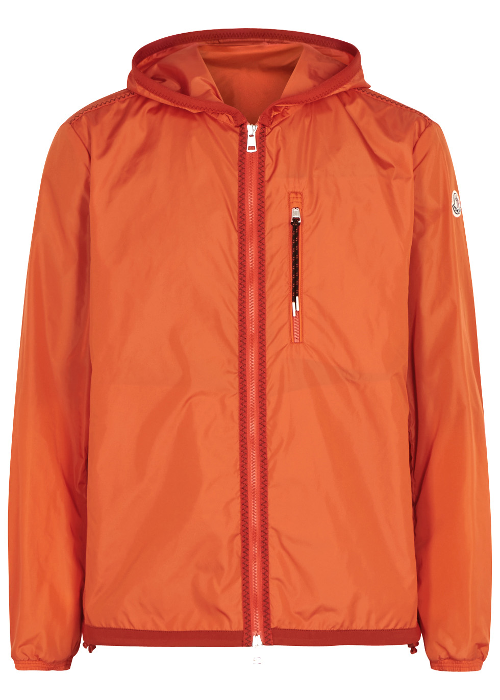 Sylvamar orange hooded shell jacket - Moncler