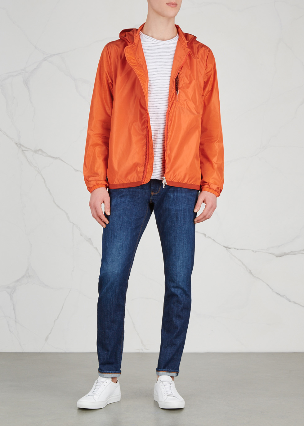 moncler jacket orange