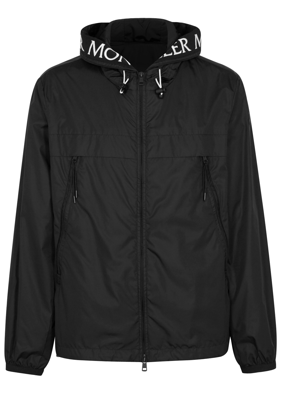 moncler black hooded jacket