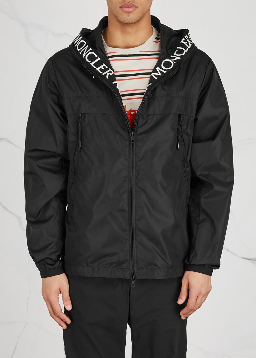 Massereau black hooded shell jacket - Moncler