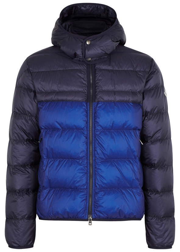 Brech two-tone quilted shell jacket ...