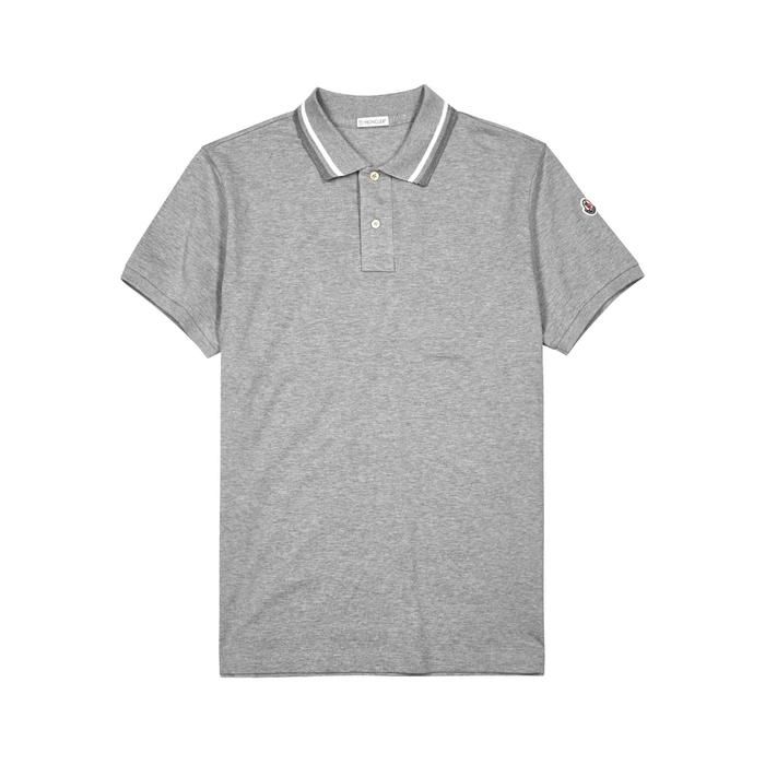 Moncler Maglia Piqué Cotton Polo Shirt