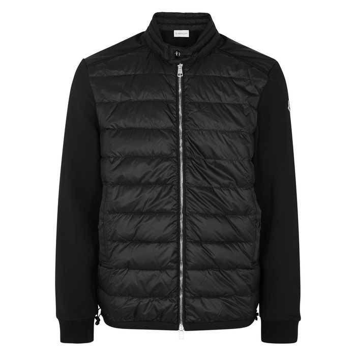 Moncler Black Quilted Stretch Jersey Jacket