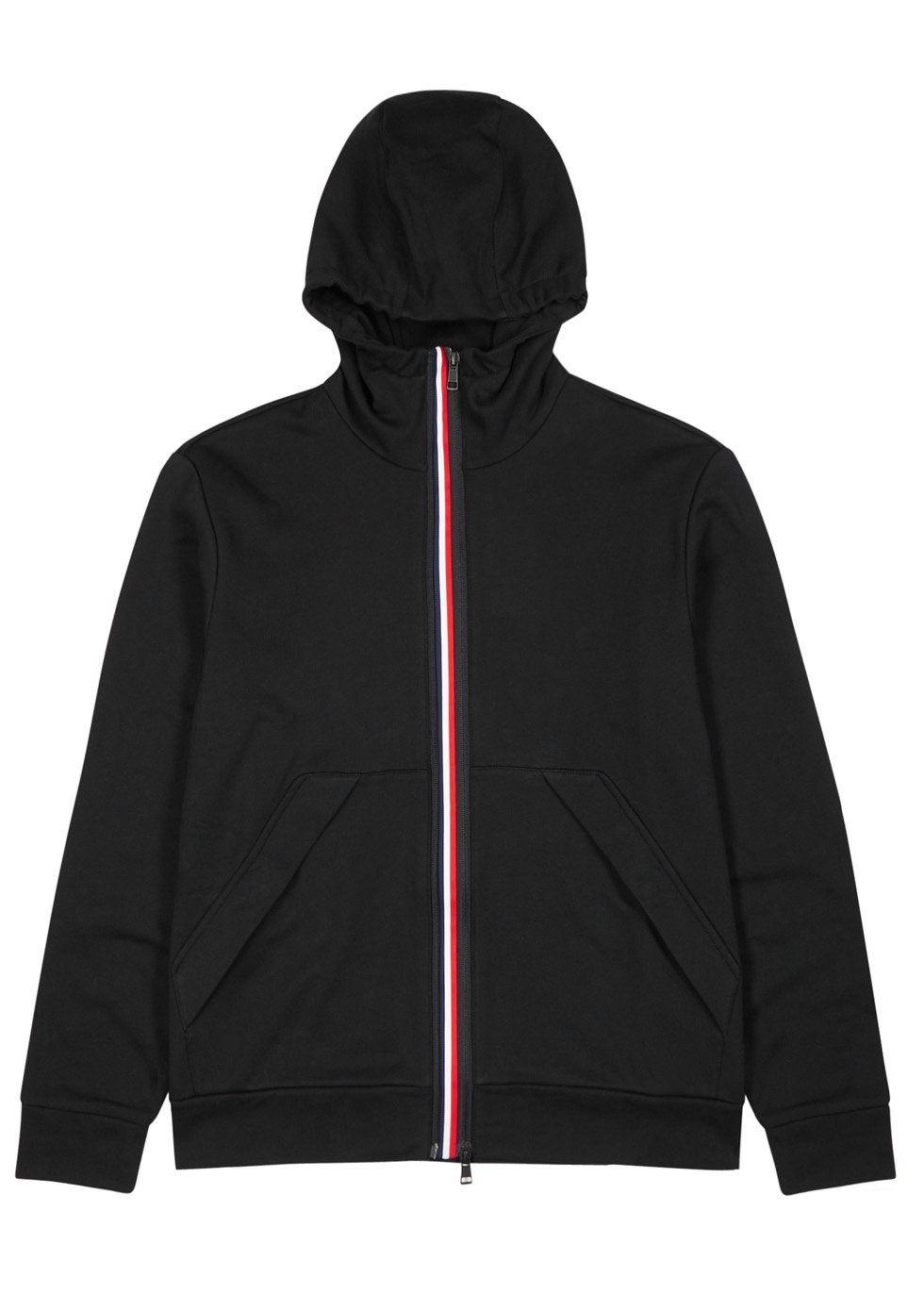 Black hooded cotton sweatshirt ...
