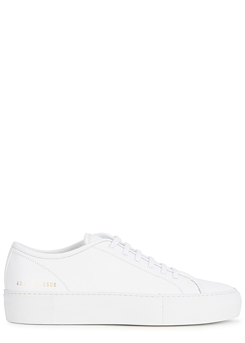 COMMON PROJECTS Tournament white leather sneakers