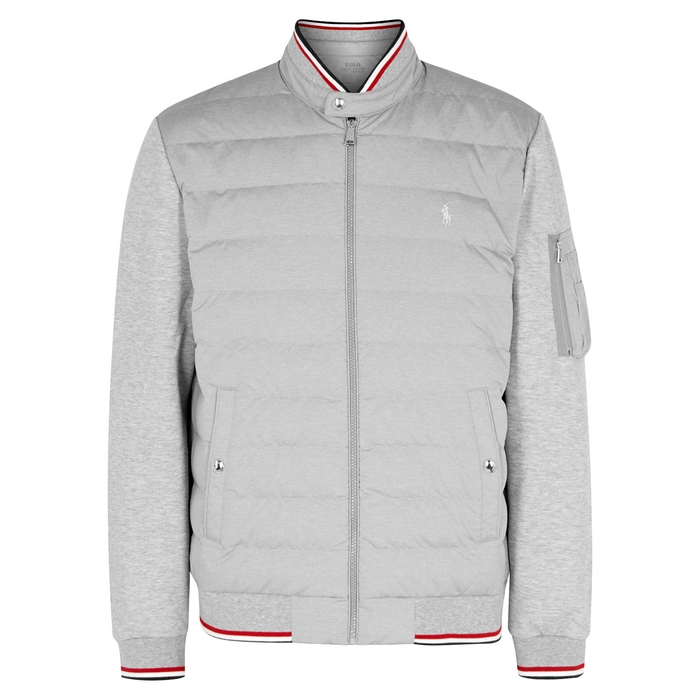 Polo Ralph Lauren Grey Quilted Shell Bomber Jacket Modesens