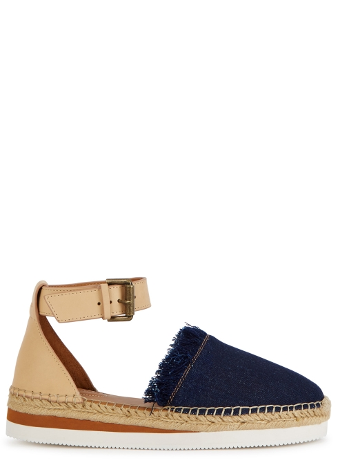 1e0be62ed2d See by Chloé Glyn denim and leather espadrilles - Harvey Nichols