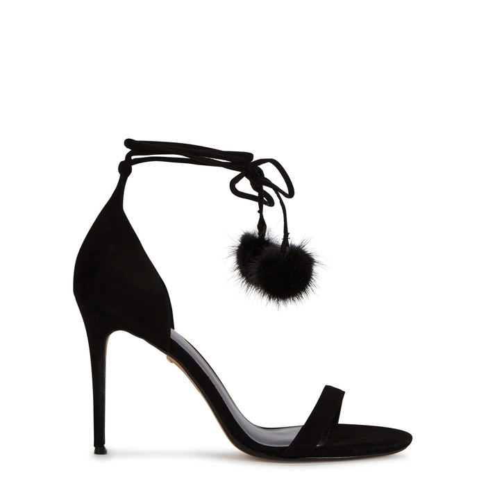 Raye BRYCE BLACK SUEDE SANDALS