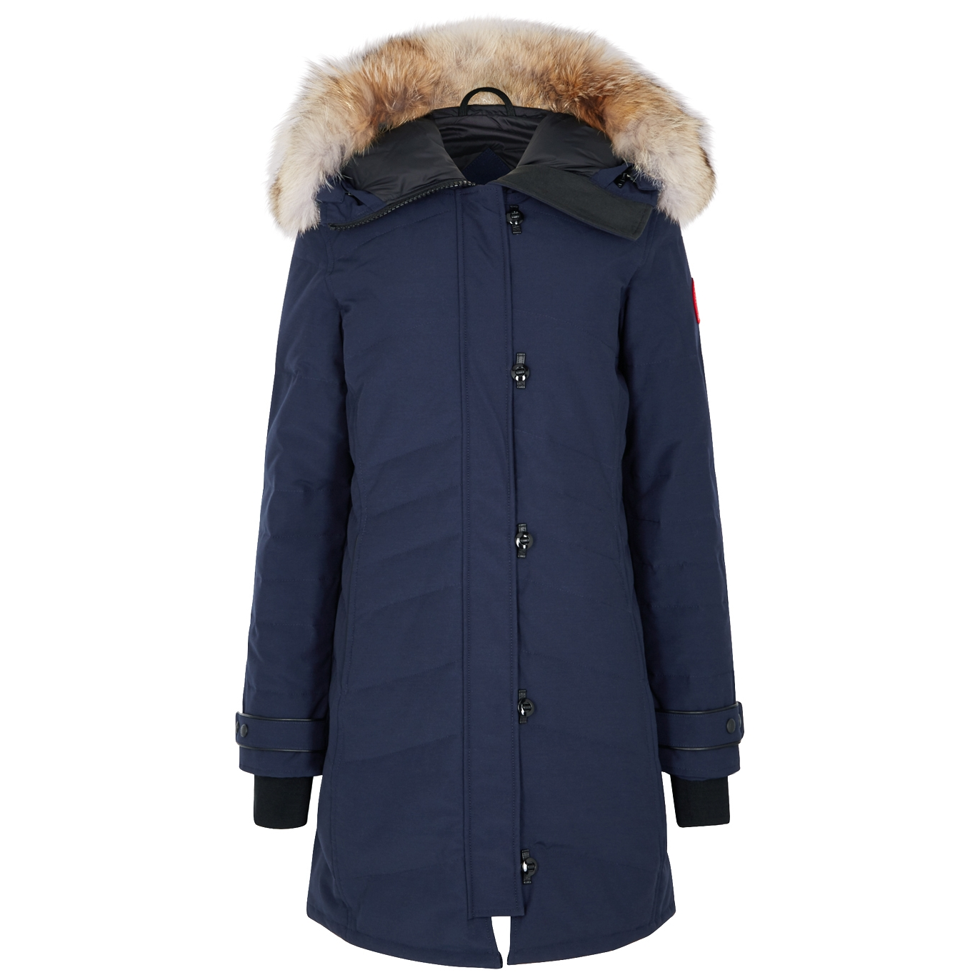 463b047335c2 Lorette navy fur-trimmed parka. £925.00. Take on the elements in Canada  Goose s ...