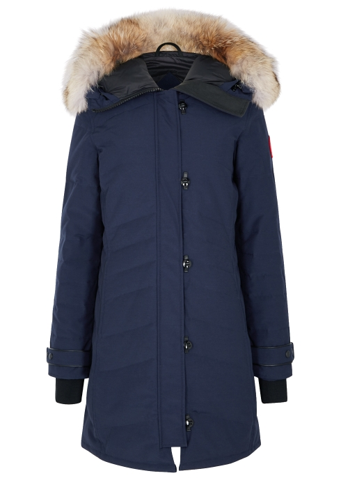 c78e0ad1d0f6 Canada Goose Lorette navy fur-trimmed parka - Harvey Nichols