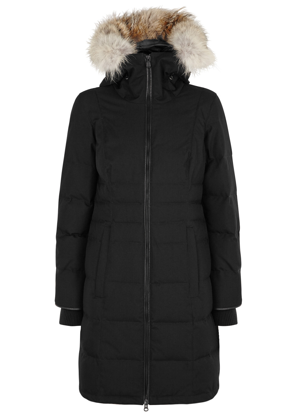 Pembina black fur-trimmed coat - Canada Goose