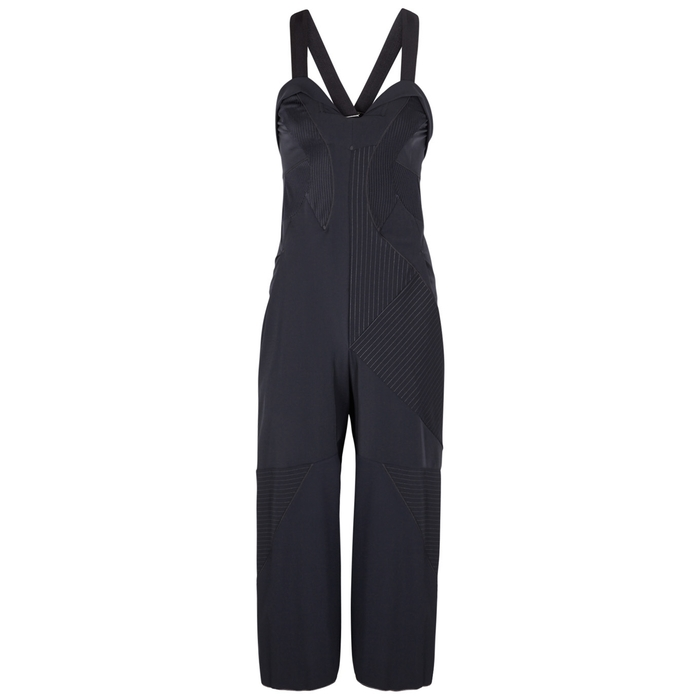 High AD-HOC PANELLED WIDE-LEG JUMPSUIT