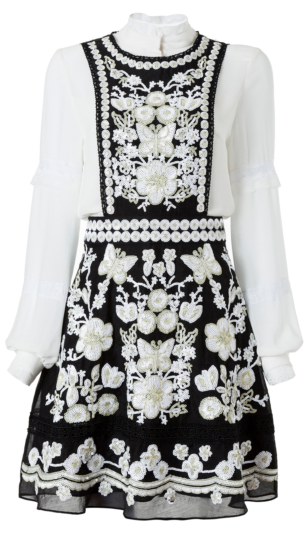 COMINO COUTURE BUTTERFLY PINAFORE DRESS