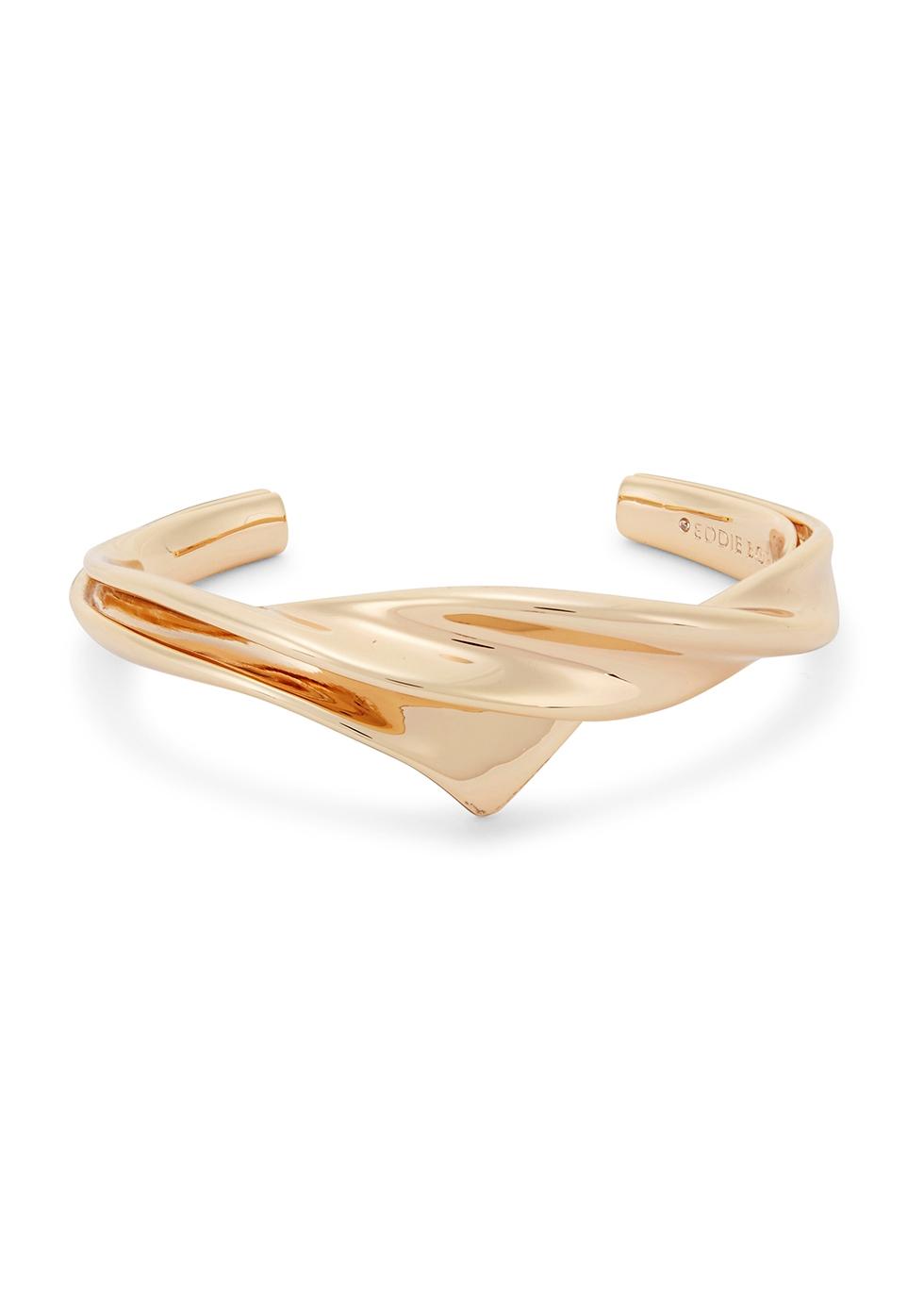 Kerchief Gold-Plated Sculpted Cuff
