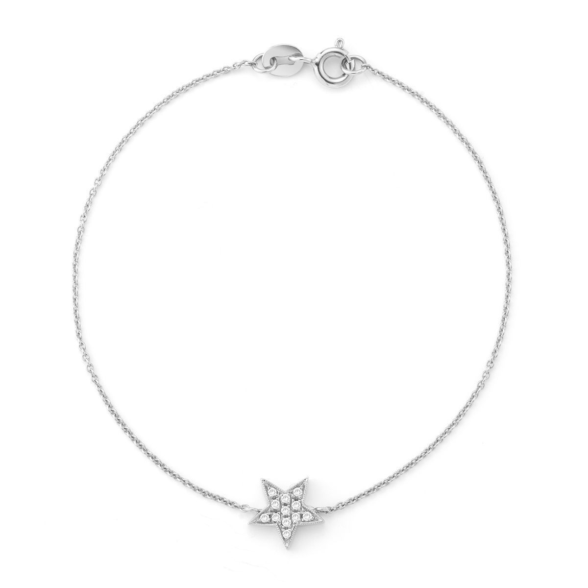 DANA REBECCA 14Ct White Gold Star Bracelet