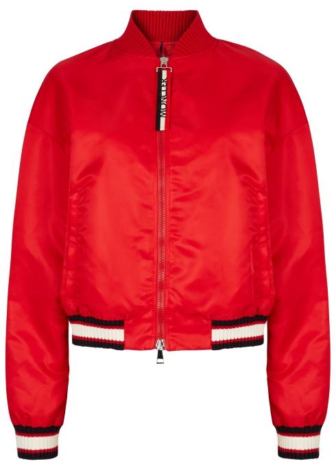 8ad423a0dddc Moncler Actinote red nylon bomber jacket - Harvey Nichols