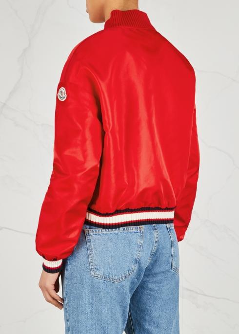 b58503946 Moncler Actinote red nylon bomber jacket - Harvey Nichols
