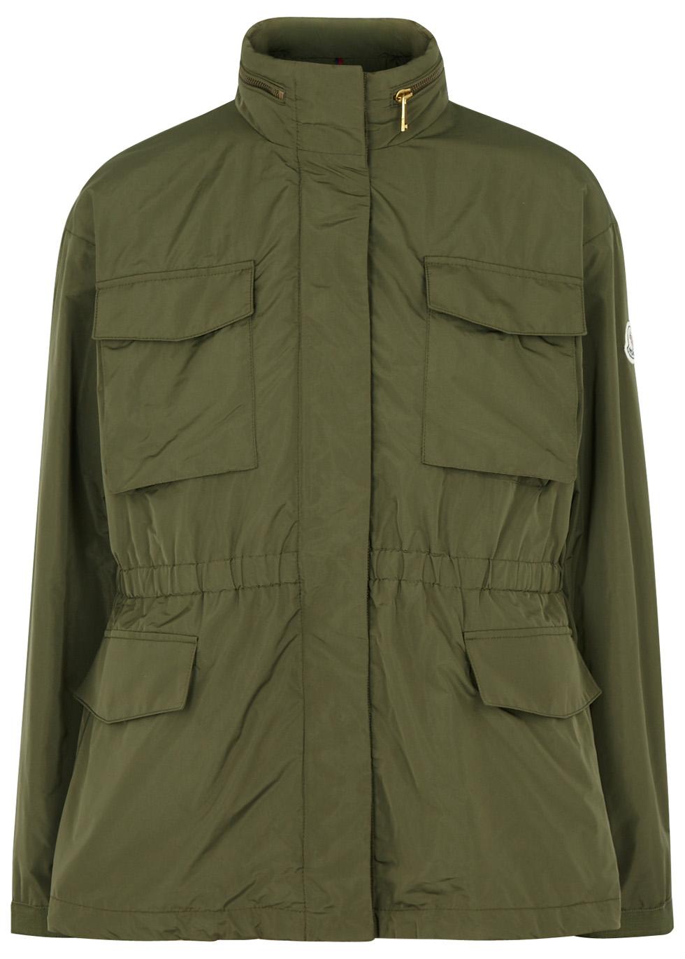 Aventurine olive taffeta jacket - Moncler