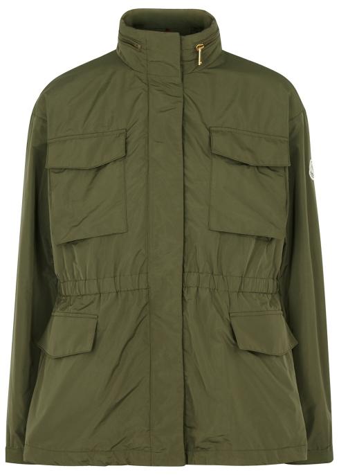 b0bbe0021677 Moncler Aventurine olive taffeta jacket - Harvey Nichols