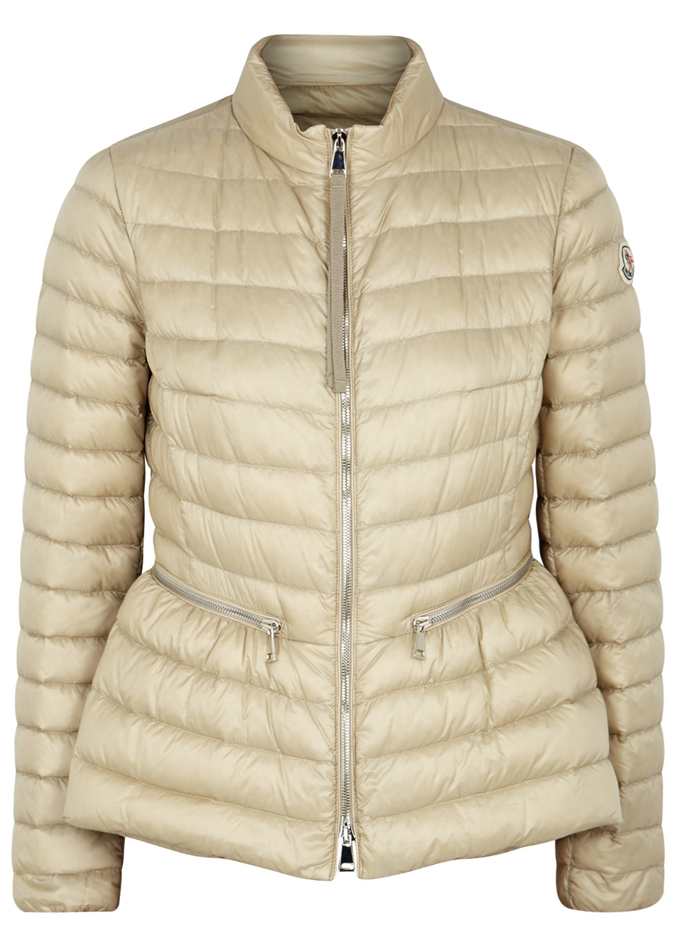 Agate ecru quilted shell jacket - Moncler