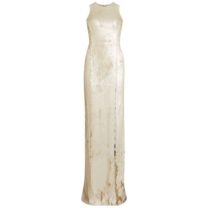 Galvan SALAR COLUMN SEQUINNED GOWN