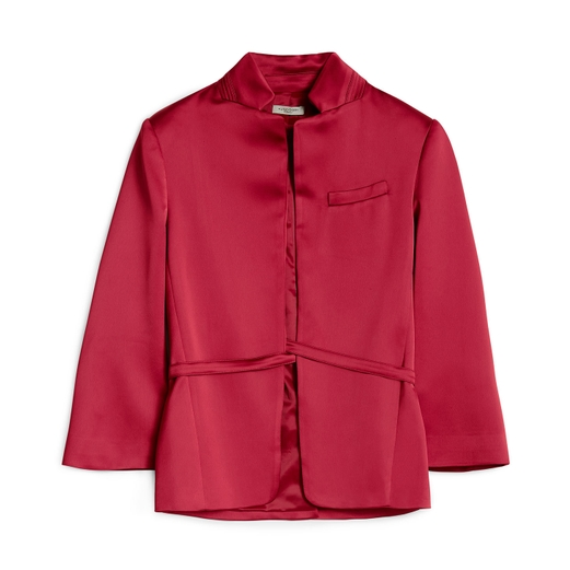 Hunkydory SATIN BLAZER CARMOSINE RED