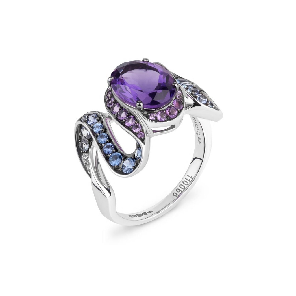 NIQUESA DANCE RING AMETHYST AND SAPPHIRES