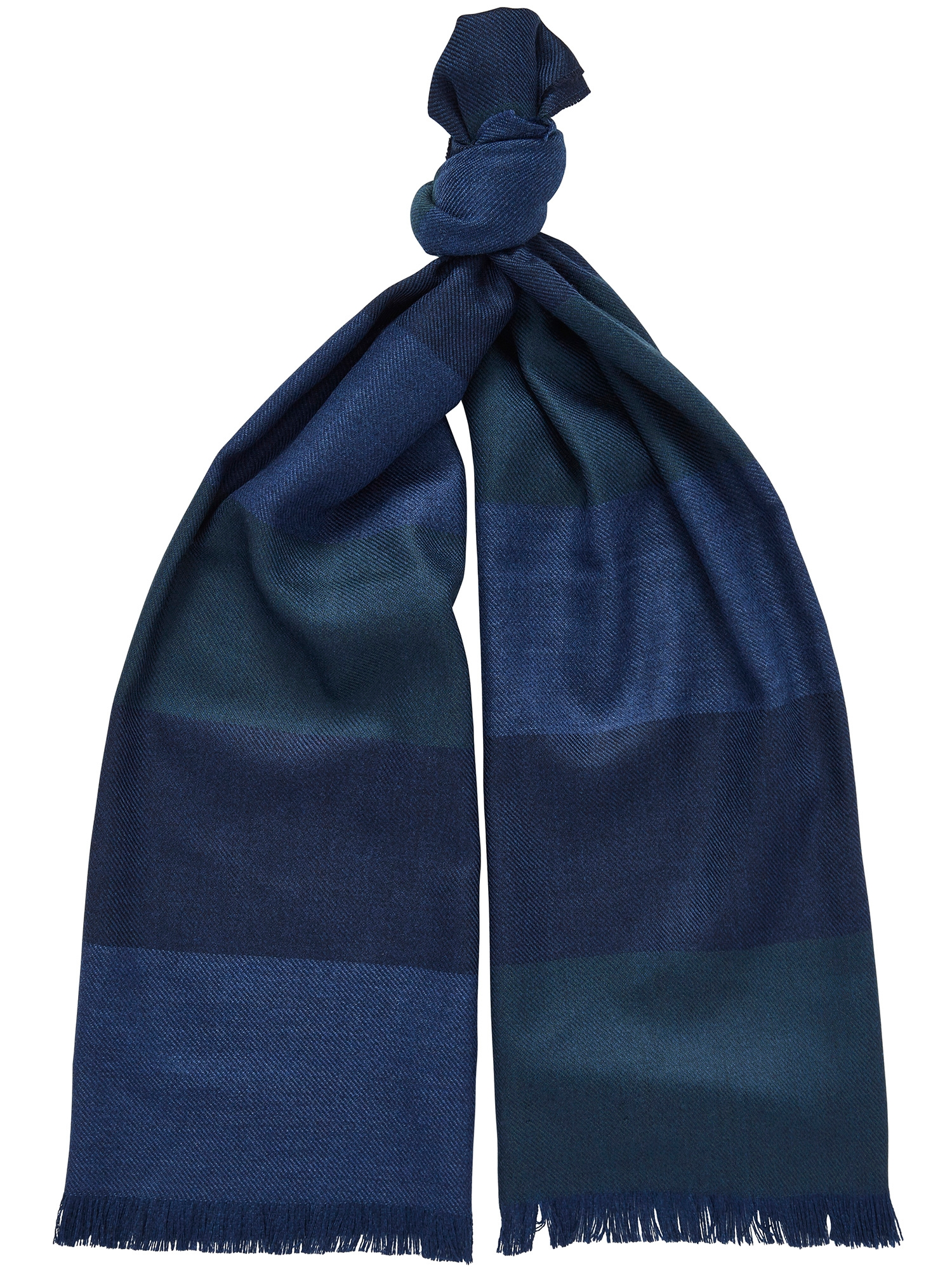 CHESTER BARRIE LAMBSWOOL COLOUR BLOCK SCARF