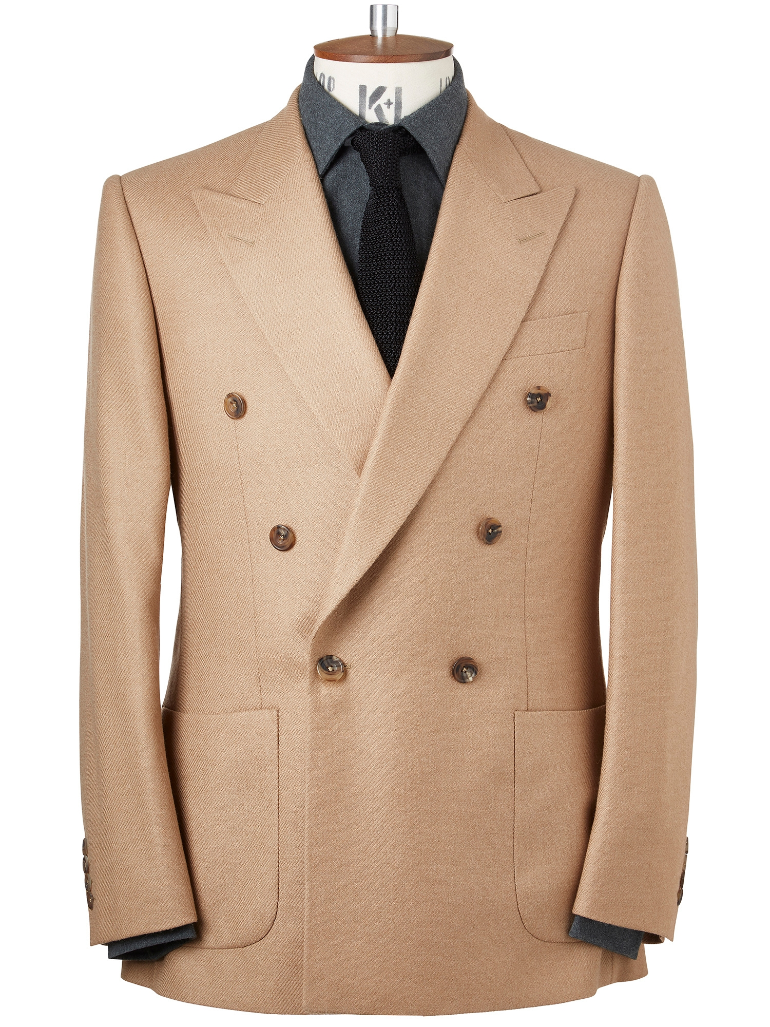 CHESTER BARRIE Camel Twill Kingly Jacket