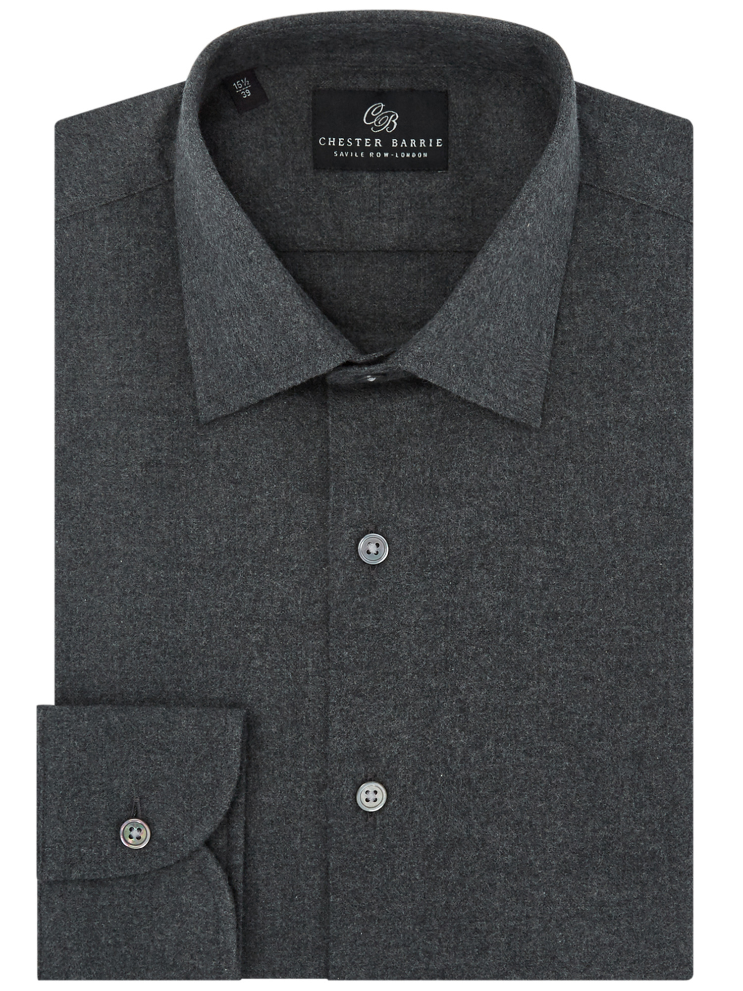 CHESTER BARRIE GREY FLANNEL SHIRT