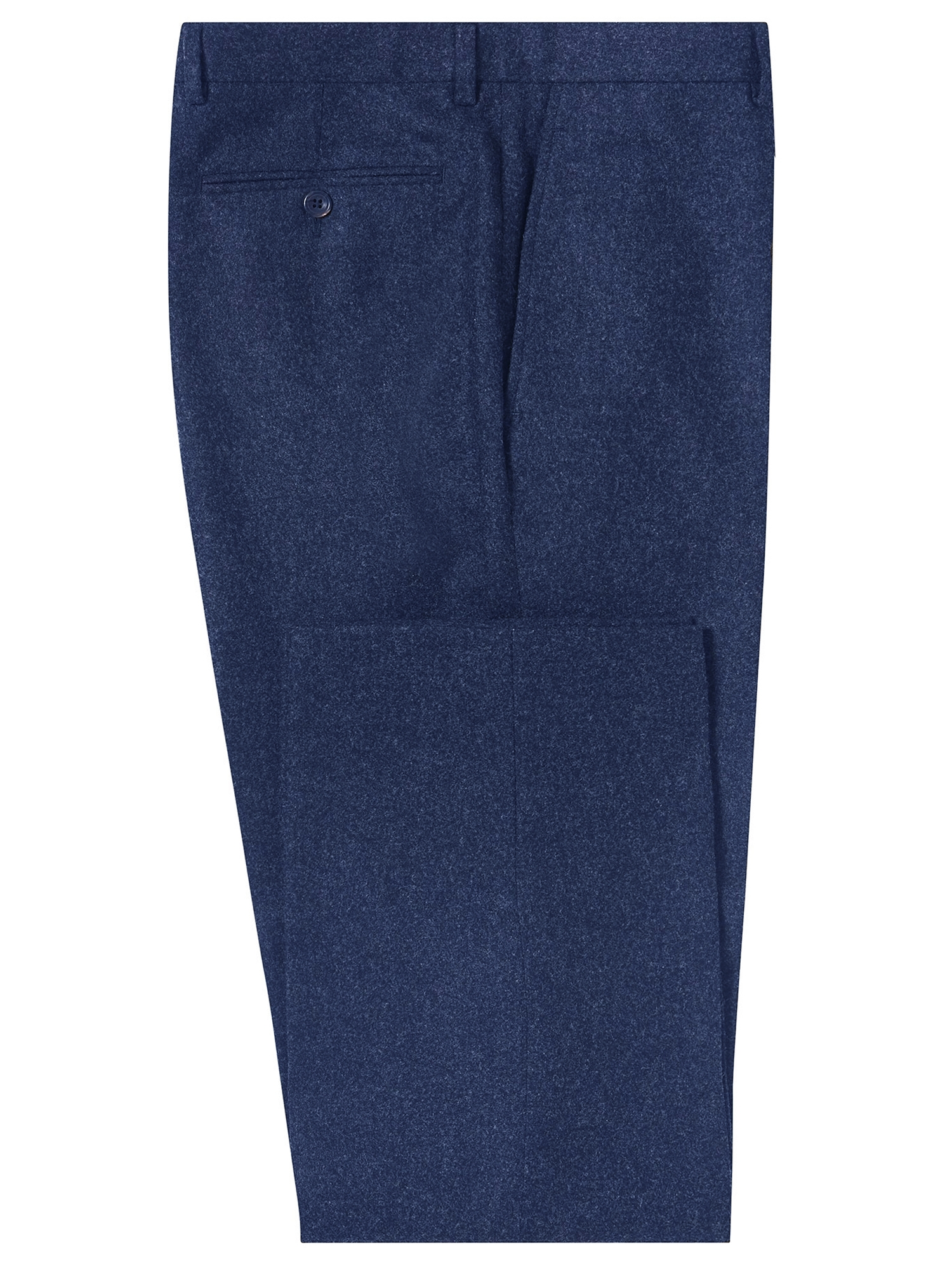 CHESTER BARRIE BLUE WEST-OF-ENGLAND FLANNEL TROUSERS