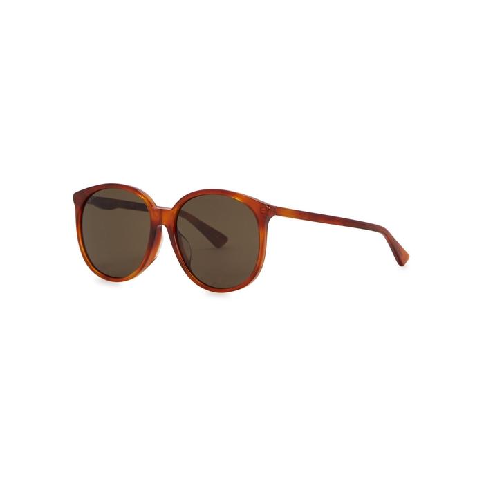 Gucci Copper Brown Round-frame Sunglasses